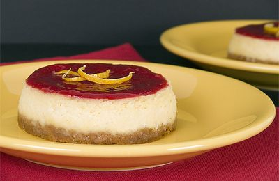 Cheesecake au citron et son coulis de framboises