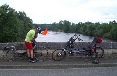 En Charente sur la route du Bordeaux-Paris le 15-06-2008