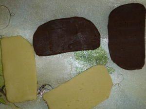 Pas à pas : biscuits sablés damier