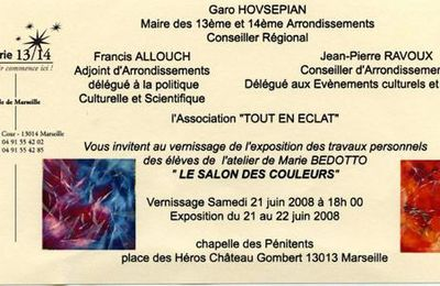 "Invitation ""Le Salon des Couleurs"""