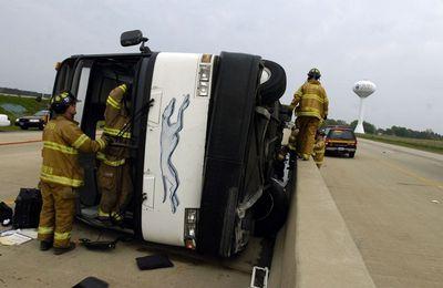 Le chauffeur s'endort, le bus se couche