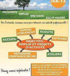 Solidarité Emploi Bretagne - samedi 5 avril - Maison des associations Montauban de Bretagne