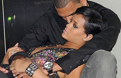 RIHANNA ET CHRIS BROWN ENSEMBLE A PARIS (photos exclus)