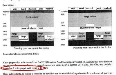 L'UNAAPE Montigny en campagne pour M. Laugier via un tract opportuniste sur les rythmes?