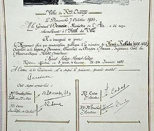 Henri Robida - Elévation d'une stèle (1)