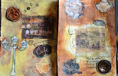 challenge decembre le jardin du mixed media