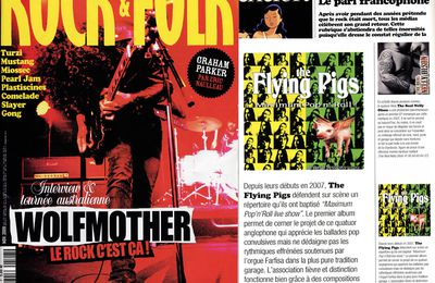 "the Flying Pigs chroniqué par H.M dans Rock and Folk n° 507 novembre 2009 rubrique ""qualité France"" p.96"