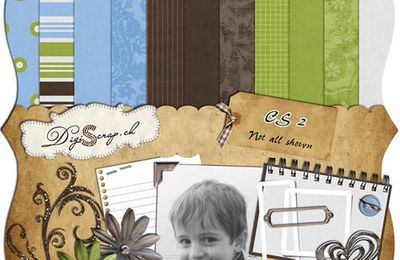 "Kit ""clean and simple2"" de digiscrap.ch"