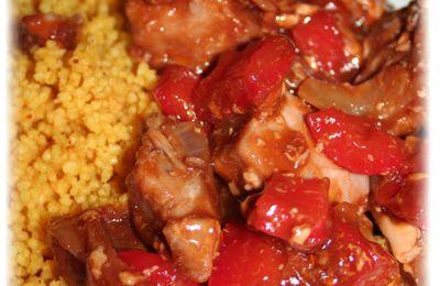 Thon rouge à la sauce aigre douce