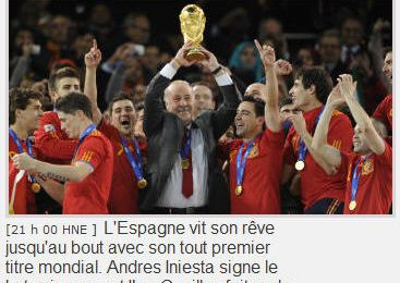 Tâches et Exercices: Coupe du Monde de Football 2010