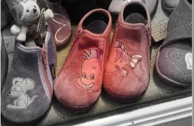 chaussons roses….