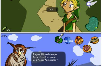 Link et le Hibou de Ocarina of Time