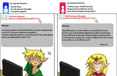 Zelda et Link sur Meetic ( Dating Website )