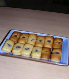 Mini financiers citron-pavot-framboise