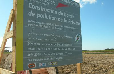 Construction du Bassin de Pollution de la Prévôté