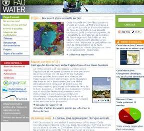 FAO Water: un site de la FAO consacré à la question de l'eau