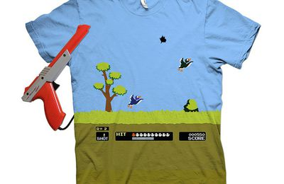 8 Bit Spray N' Pray | Duck Hunt tee-shirt