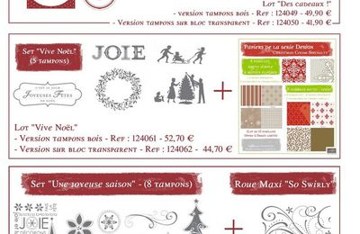 "Stampin'Up ! Visualisation des lots ""Promo de Noël"""
