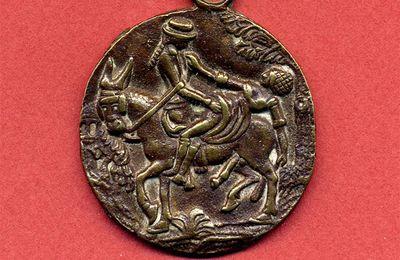 Médaille érotique à l'âne en rut