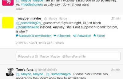 hiddlestoners tweet fight / @tomsfans4life @_maybe_maybe_