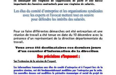 Tract 17.12.2009 : Projet suppresion d'emplois (Suite)