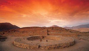 Une cité dans les Andes...