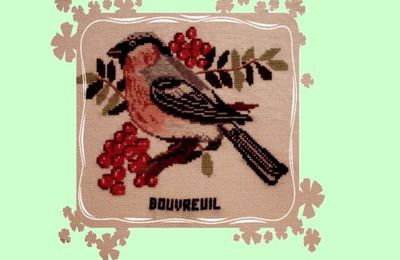 40 - broderie - le bouvreuil