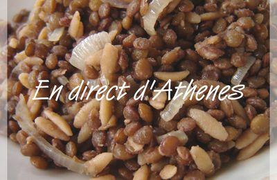 RECETTE CHYPRIOTE : Pilaf de lentilles