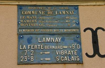 Plaque de cocher : commune de Lamnay