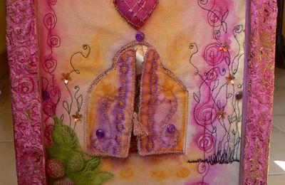 Des nouvelles de mon premier art textile....