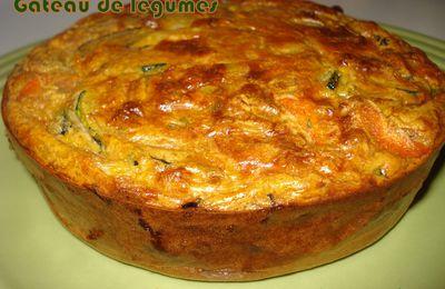 Gâteau moelleux de légumes au sarrasin et pruneaux