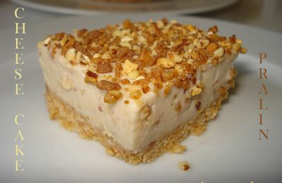 Cheesecake au pralin - sans cuisson -