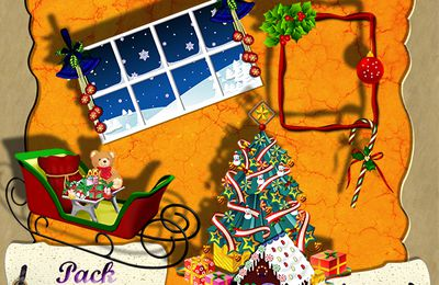 Freebies Pack Noël en CU par Laureline