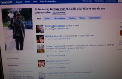 "j'ai un ""fan club"" (enfin si on veut) sur facebook..."