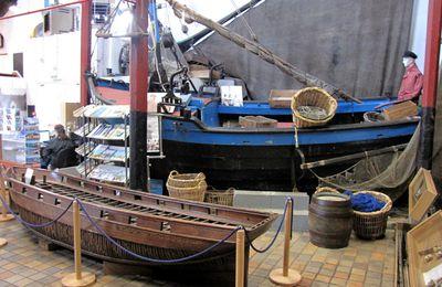 Barques de pêche, musée de la Marine d'Etaples (Pas-de-Calais)