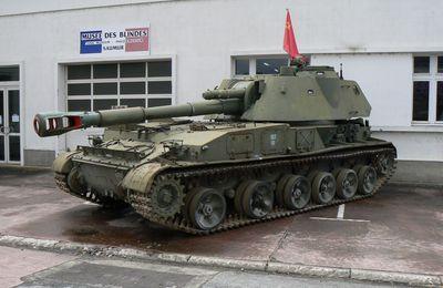 Blindé soviétique '2S3' SAU 152, musée des blindés de Saumur