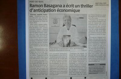 REVUE DE PRESSE 1 : THRILLER D'ANTICIPATION ECONOMIQUE