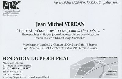 8 septembre - vernissage Arpac