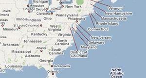 GoogleMap : localisation des bureaux de vote en ligne
