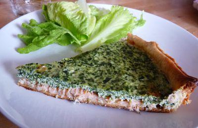 Tarte saumon, épinards et ricotta