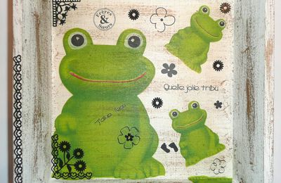 "PLATEAU GRENOUILLE Croa Croa ! collection ""mamezelle grenouille"""