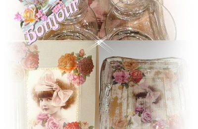 "TOILE SUR CHASSIS TABLEAU Collection ""petite rose"""