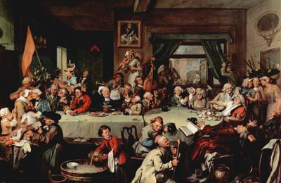 Classici [Protofumetto]. Inghilterra, William Hogarth, Umori di un'elezione, 1754-55.