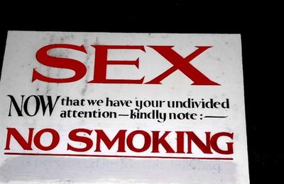 Sex, no smoking