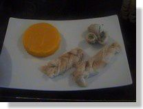 FILETS DE SOLE TRESSES et ROULES AUX FINES HERBES, PUREE DE BUTTERNUT
