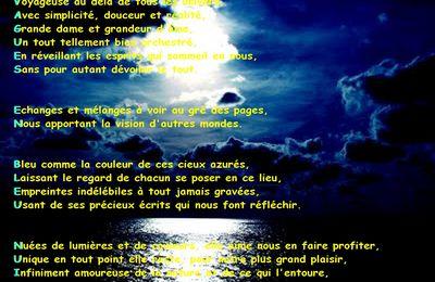 Vagues en bleu nuit