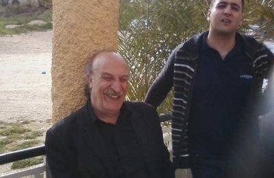 Photo de Naguib Djaoud avec une vedette de la télévision algérienne