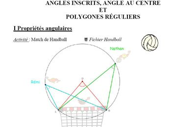 Angles inscrits, angles au centre et polygones réguliers