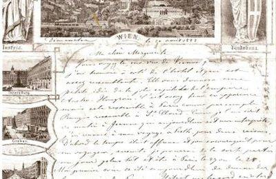 Lettre à Marguerite Salomé FRANCK, Wien 21 août 1882