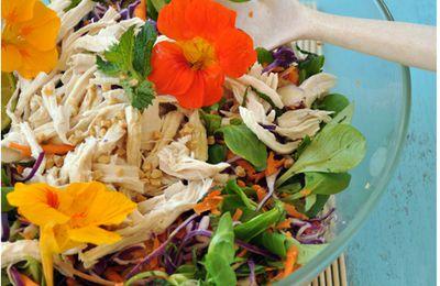 Salade de poulet et crudités aux saveurs asiatiques